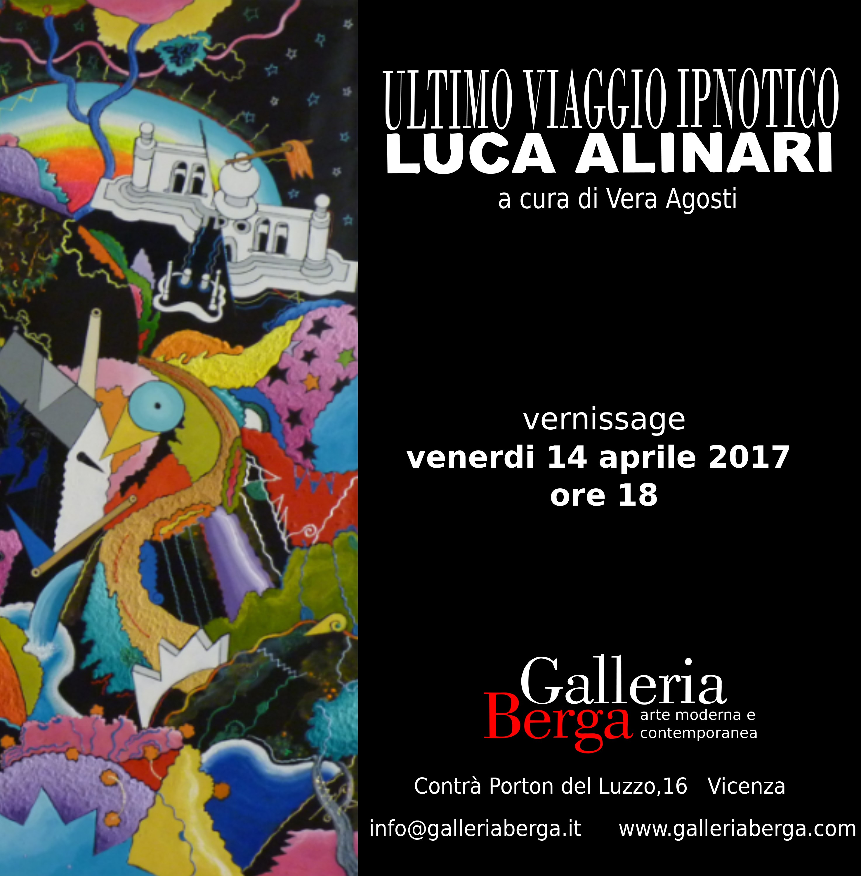 "Vernissage ""Luca Alinari – Ultimo viaggio ipnotico"""
