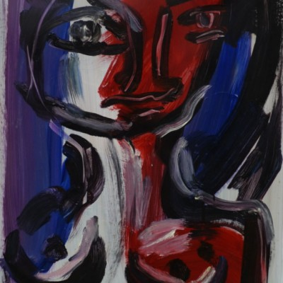 Boldrini - Donna rossa e blu