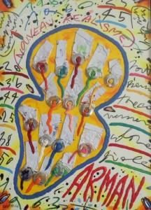 Bruno Donzelli, Atelier di Arman, Olio su tela, 50 x 70 cm